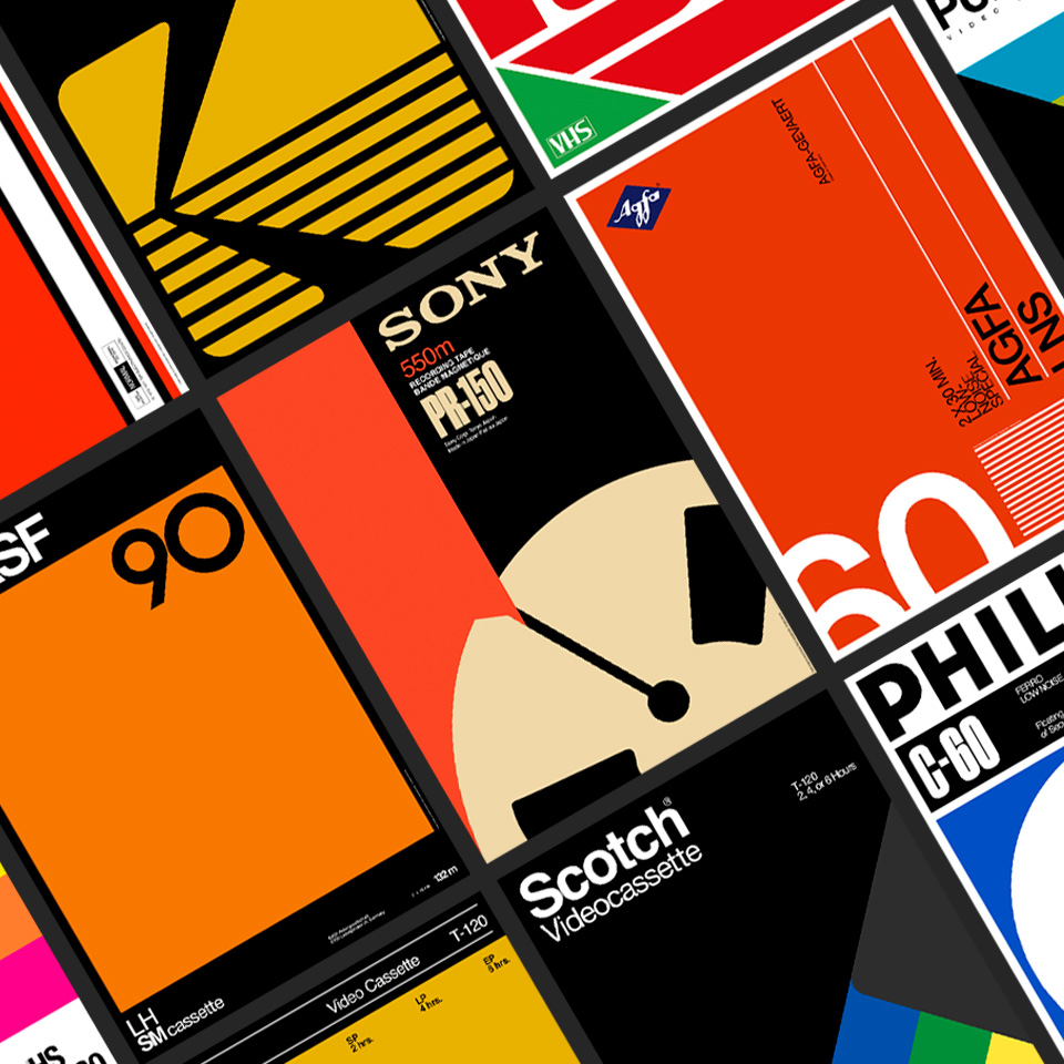 Poster Collection Retro Brands Videotape